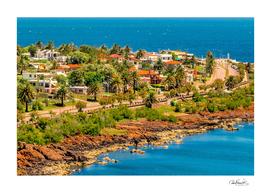 Punta Colorada Aerial Landscape Scene, Uruguay
