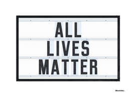 ALLIVES MATTER - Typo - 3D