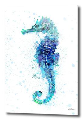 Watercolor Seahorse