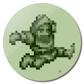 Ghosts n Goblins Sir Arthur monochrome