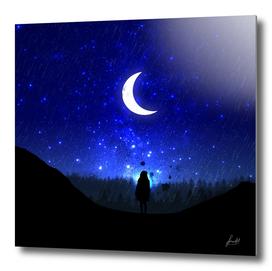Walking under the Moon