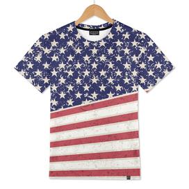Hot Dye Stars & Stripes Vintage Men's T-Shirt