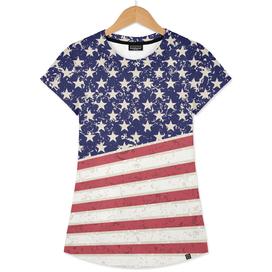 Hot Dye Stars & Stripes Vintage Women's T-Shirt