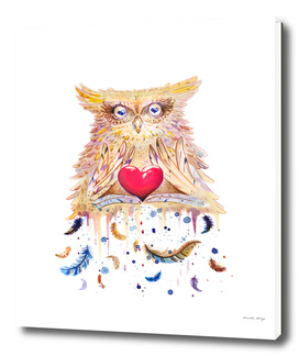 Owl with love