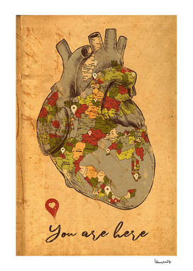 map of heart