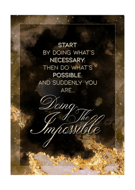 Doing the Impossible Gold Motivational