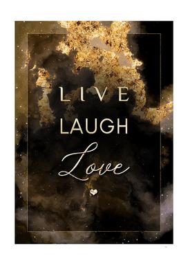 Live Laugh Love Gold Motivational