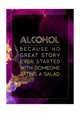 Alcohol Eating a Salad Prismatic Motivational