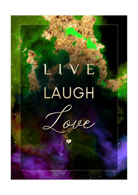 Live Laugh Love Prismatic Motivational