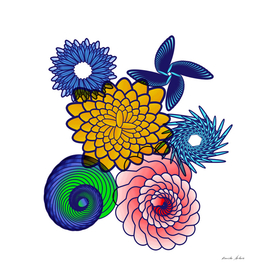 Bright Cute Attractive Spiral Pattern