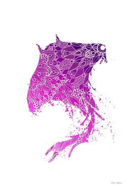 Purple Mandala Manta Ray