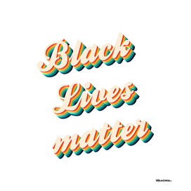 BLACK Lives Matter - Color Typo