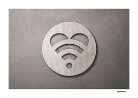 LOVE is all around - Wooden 3D Sign