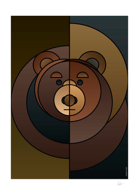 ANIminiMAL - Animal Minimal_Bear Art Print