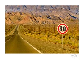 Deserted Landscape Highway, San Juan Province, Argent