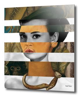 Frida's Self Portrait with Monkey & Audrey Hepburn