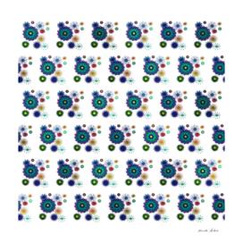 Cute Attractive Spiral Geometric Flower Brick Pattern