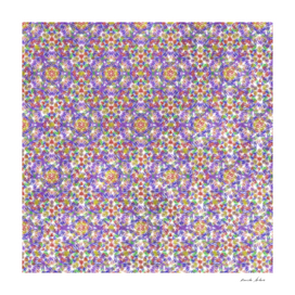 Colorful Streaks Symmetry Seamless Pattern