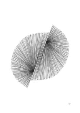 Mid Century Modern Geometric Abstract Line Drawing