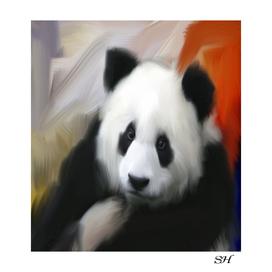 Abstract panda