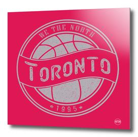 Toronto basketball red vintage logo