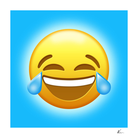Face With Tears of Joy Emoji   Pop Art