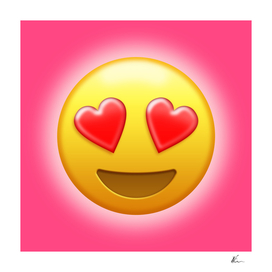 Smiling Face with Heart-Eyes Emoji | Pop Art