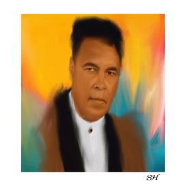 Muhammad ali abstract digital painting
