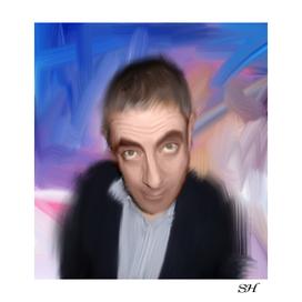 Rowan atkinson abstract digital painting