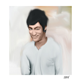 Bruce lee abstract digital painting