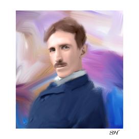 Nikola tesla digital painting