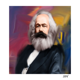 Karl max digital painting