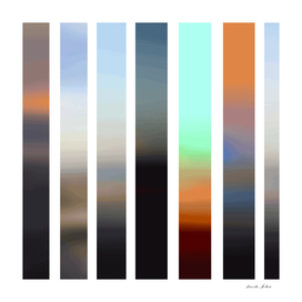 Artistic Vertical Strips in Beautiful Shades of Colors