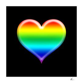 Rainbow Heart Emoji   Pop Art