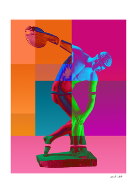 Technicolor Discus Thrower