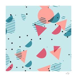 Modern Hip Abstract Geometric 50s Art Pattern