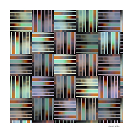 Beautiful Shades of Rainbow Colors in Vertical Stripes Cross