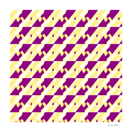 Diagonal Geometric Purple Curves and Yellow Stripes