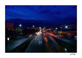 Bridge highway night by #Bizzartino