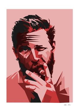 tom hardy warm color illustration