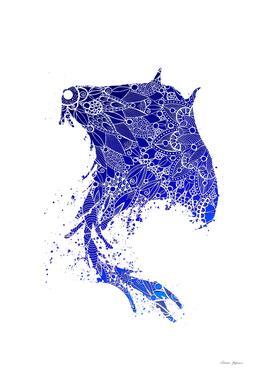 Blue Mandala Stingray