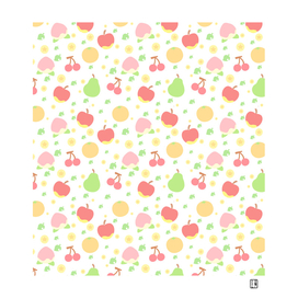 animal crossing yummy fruits pattern