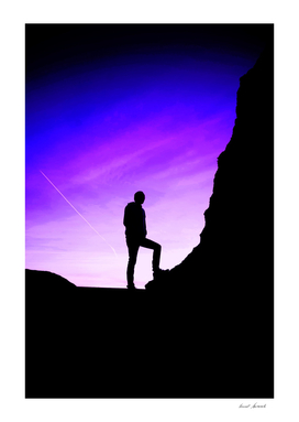 Man with Violet Sky