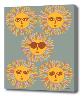 Retro Sunshine Party - sage #positivevibes