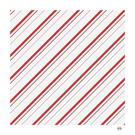 Diagonal red stripes pattern