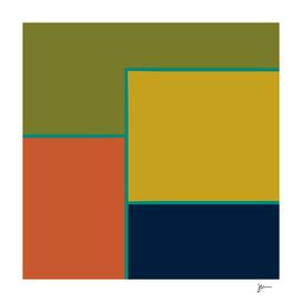 Quadratisch - Minimalist Mid Century Modern Colour Block