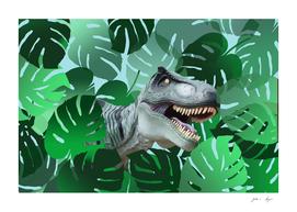 monstera big green dino - dinosaur