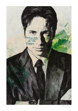 The truth is out there | Fox Mulder portrait