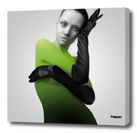 Femme en vert