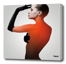 Femme en orange
